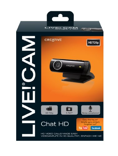 Cam Chat HD Black 5.7MP Webcam Creative Live
