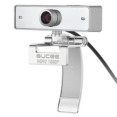 HD Webcam 1080P, GUCEE HD92 Web Kamera mit Mikrofon, Skype Web Cam Kompatibel Windows 10 / 8 / 7 / XP, USB Webkamera für Skype, Facecam, Yahoo Messenger, Weitwinkel Kamera Kompatibel mit Mac, Macbook