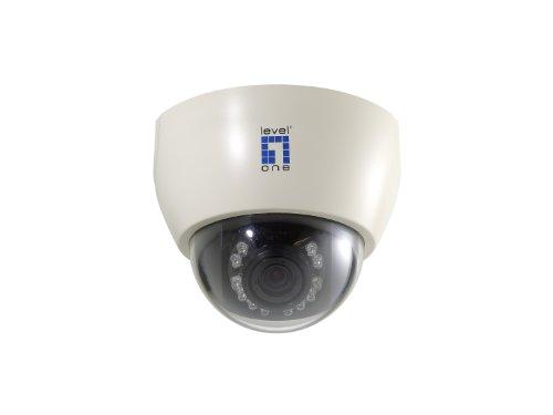 LevelOne FCS-3061 Farb/Tag und Nacht Netzwerkkamera Kuppel 12 V/PoE