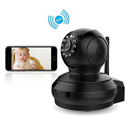 CE-Link Überwachungskamera IP Kamera, 1080P HD Wireless WiFi Kamera IP Cam für Smartphone/PC mit App/Anleitung/Support,Tag/IR LEDs Nachtsicht,WLAN,Webcam,Videokamera,CCTV Sicherheitskamera Bewegungserkennung Email Alarm Schwarz