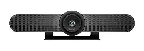 Logitech MeetUp Conference Kamera (mit 120-Grad-Sichtfeld und 4K-Videoqualität) schwarz