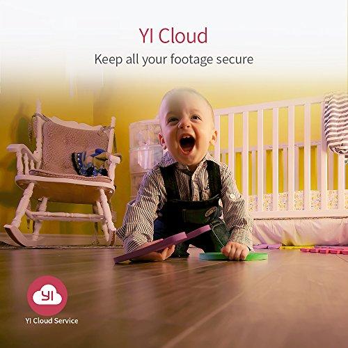 YI Home Camera 1080p Wireless IP Überwachungskamera, Smart Home Kamera mit Nachtsicht, Bewegungsmelder, 2-Way Audio, Haus Monitor Baby Monitor Pet Monitor, App für Smartphone/PC, YI Cloud Service