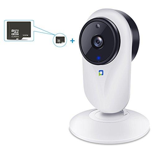 1080P HD Wireless / WiFi IP Kamera von OPTJPY Indoor Baby Monitor Heim Überwachungskamera mit Bewegungserkennung, Zwei-Wege Audio, IR Nachtsichtmodus, Alarm Informationen für iOS / Android – Weiß