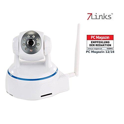 7links LAN Kamera: Dreh- & schwenkbare Indoor-IP-Kamera, Full HD, WLAN, SD-Aufnahme & App (Überwachungsvideokamera)