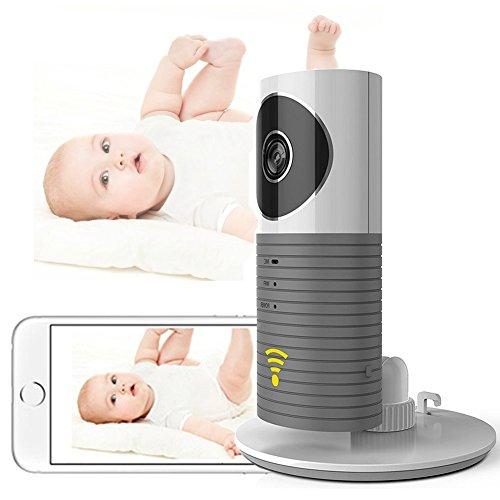 Cadrim Mini Kamera 720P IP Funk Überwachungskamera Wlan mit Babypflege Monitor Sicherheitskamera WIFI Nachtsicht Video Schwenk Neige Play und Plug