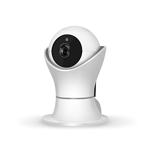 Internet Netzwerk HD Videokamera 1080P Pan Tilt Netzwerksicherheit CCTV IP Kamera Nachtsicht WiFi Webcam (Weiß)