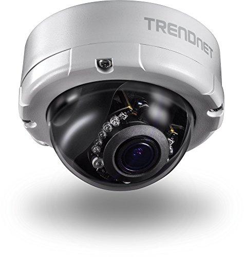 TRENDnet Indoor/Outdoor 4 Megapixel, Varifokal PoE IR Dome Netzwerk Kamera, Auto-Fokus, Optischer Zoom, Manuelles Pan/Tilt, Nachtsicht bis zu 20 Meter, IP66 zertifiziertes Gehäuse, ONVIF, IPv6, TV-IP345PI