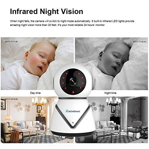 berwachungskamera wifi ip kamera elinksmart pan tilt zoom innen berwachungskamera wifi webcam. Black Bedroom Furniture Sets. Home Design Ideas